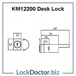 KM12200 Desk Lock Technical Details