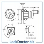 KM1346 Filing Cabinet Lock Technical Details