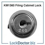 KM1360 FILING CABINET LOCK FACE