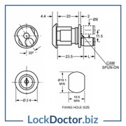 KM1360 Filing Cabinet Lock Technical Details