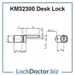 KM32300 Desk Lock Technical Details