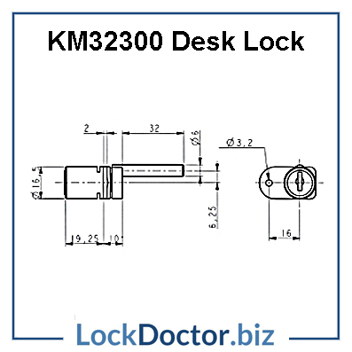 KM32300 Desk Lock Technical Details