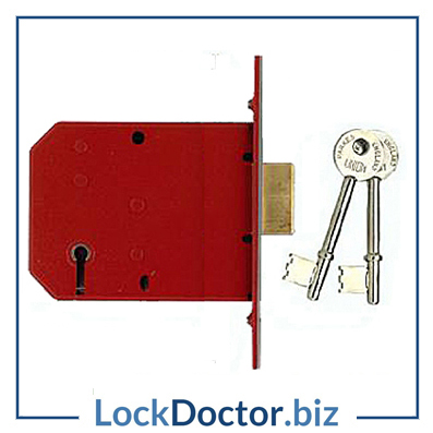 KM3323 UNION 2101 5 Lever 75mm Deadlock supplied with keys and step by step fitting instructions on how to change the lock from lockdoctorbiz