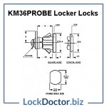 KM36PROBE Locker Lock Technical Details