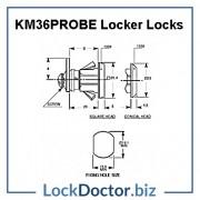KM36PROBE Locker Lock Technical Details