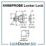 KM95PROBE Locker Lock Technical Details