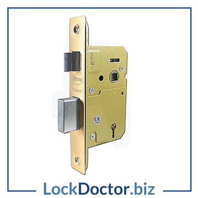 KMAS11323 64mm British Standard 5 Lever Sashlock 2KTD with keys and step by step fitting instructions on how to change the lock