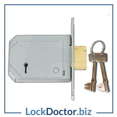 KML12081 CHUBB 3G114E 5 Lever 80mm Deadlock with keys and step by step fitting instructions on how to change the lock from lockdoctorbiz