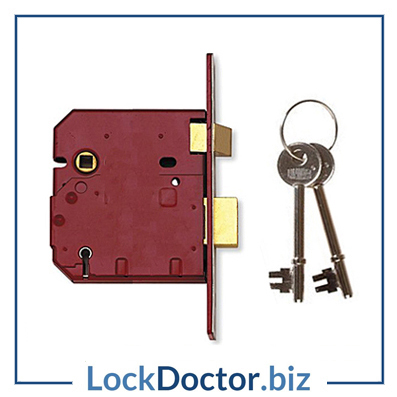 KML12482 UNION 2234E 5 Lever 75mm Sashlock with keys and fitting instructions from lockdoctorbiz