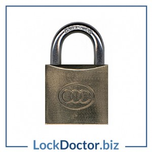 KMTRI38 BRASS Tricircle 38mm Strong Locker Padlock KEYED TO DIFFER with 3 keys each available NEXT DAY from lockdoctorbiz