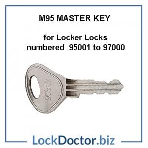 M95 Master Key opens locker locks numbered 95001 to 97000 restricted by lockdoctorbiz