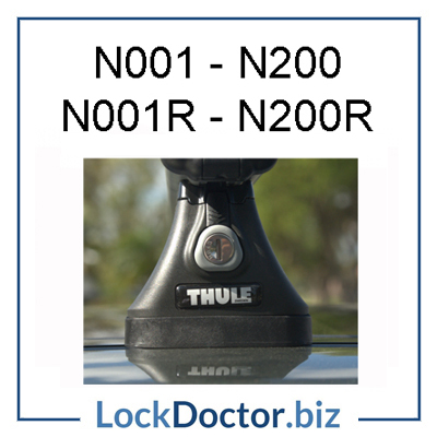 N001 N200 Halfords Thule Roof Rack Key Series Lock Doctor