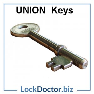 Replacment UNION 3 lever mortice key next day online by code or arrange a copy from lockdoctor biz