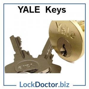 Replacment YALE front door key next day online by code or arrange a copy from lockdoctor biz