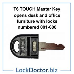 T6 Touch Master Key  for Senator Office Furniture from lockdoctorbiz