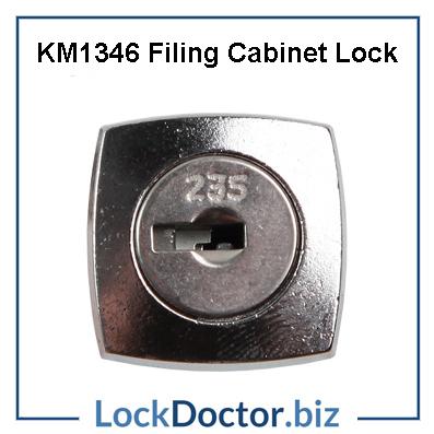 KM1346 FILING CABINET LOCK FACE