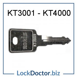 KT3001 to KT3999 Ronis Locker Key