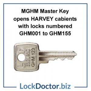 MGHM Master Key for Harvey Cabinet Locks restricted by lockdoctorbiz
