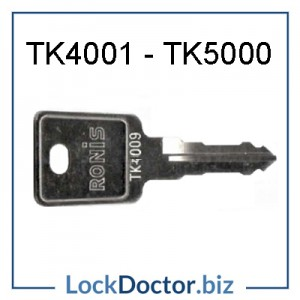 TK4001 to TK5000 replacement LINK locker ronis keys next day
