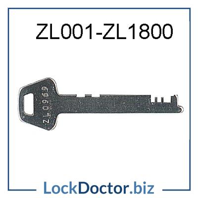 ZL001 to ZL1800 LF ENGLAND Flat Steel ZL Locker Key available at lockdoctorbiz