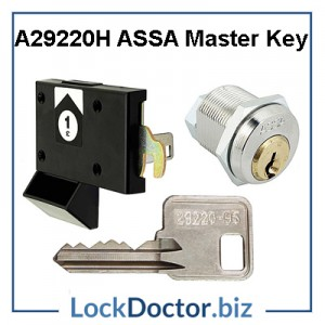 29220H Master Key opens ASSA ABLOY locker locks 29220 1 to 750 restricted by lockdoctorbiz