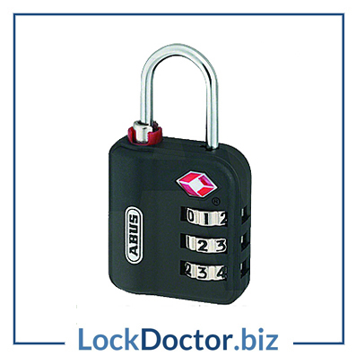 KML19262 ABUS 147TSA Series Combination Luggage Open Shackle Padlock from Lockdoctorbiz