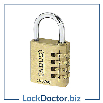 KML19285 ABUS 165 Series Brass Combination Open Shackle Padlock from lockdoctorbiz
