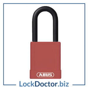 KML22481 ABUS 74 Series Lock Out Tag Out Aluminium Padlock (RED)