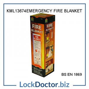 KML13674 EMERGENCY FIRE BLANKET from lockdoctorbiz