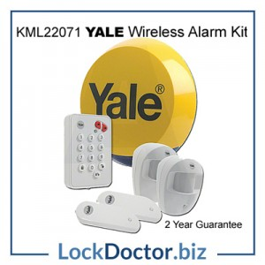 KML22071 YALE Easy Fit Wirefree Alarm Kit expandable up to 30 devices from Lockdoctorbiz