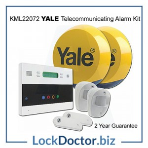 KML22072 YALE Easy Fit Wirefree Telecommunicating Alarm Kit up to 30 devices from lockdoctorbiz