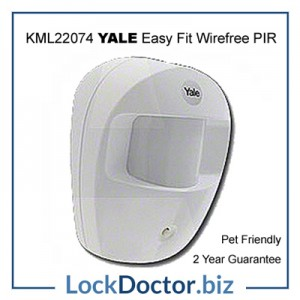 KML22074 YALE Easy Fit Wirefree Pet Friendly PIR Detector for YALE ALARM KITS from lockdoctorbiz