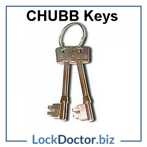 Replacment CHUBB 5 lever mortice key next day online by code or arrange a copy from lockdoctor biz
