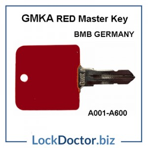 GMKA BMB Germany RED Master Key for  Desk Locks A001 to A600