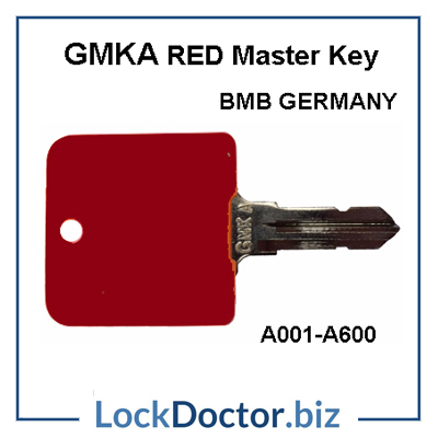 Gmka bmb germany new red master key for desk locks a001 to for Door lock germany