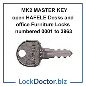 MK2 Master Key to Open HAFELE locks for desks and office furniture from Lockdoctorbiz