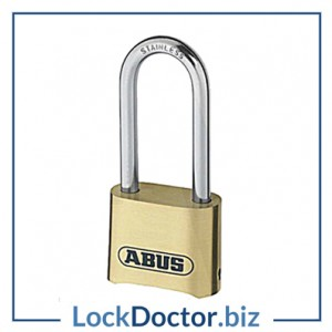 KML19287 Abus 53mm 4 wheel Long shackle combination padlock
