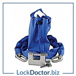 KMAS10092 ASEC Sliding Shackle Padlock & Chain Set (1.5m Chain, 85mm Sliding Shackle Padlock and Bag)