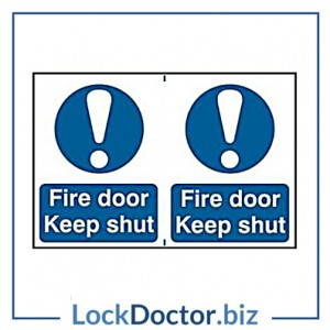 KMAS4640 Fire Door Keep Shut 200mm x 300mm PVC Self Adhesive Sign
