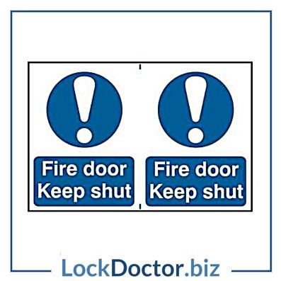 KMAS4640 Fire Door Keep Shut 200mm x 300mm PVC Self Adhesive Sign