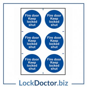 KMAS4641 Fire Door Keep Shut 200mm x 300mm PVC Self Adhesive Sign
