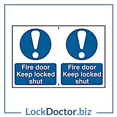 KMAS4642 Fire Door Keep Locked Shut 200mm x 300mm PVC Self Adhesive Sign