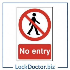 KMAS4665 No Entry 200mm x 300mm PVC Self Adhesive Sign