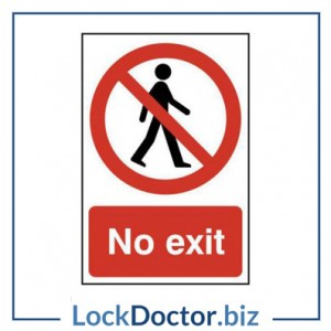 KMAS4666 No Exit 200mm x 300mm PVC Self Adhesive Sign