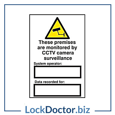 KMAS4681 These Premises Are Monitored By CCTV Surveillance 200mm x 300mm PVC Self Adhesive Sign