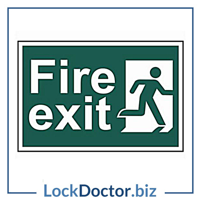 KMAS4693 Fire Exit 200mm x 300mm PVC Self Adhesive Sign