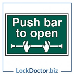 KMAS4694 Push Bar To Open 200mm x 300mm PVC Self Adhesive Sign