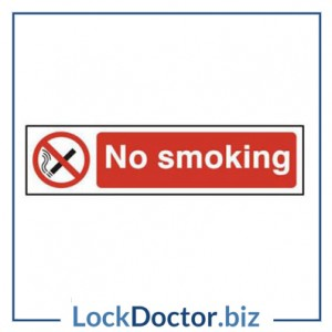 KMAS4740 No Smoking 200mm x 50mm PVC Self Adhesive Sign