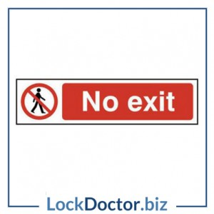 KMAS4741 No Exit 200mm x 50mm PVC Self Adhesive Sign