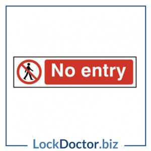KMAS4742 No Entry 200mm x 50mm PVC Self Adhesive Sign